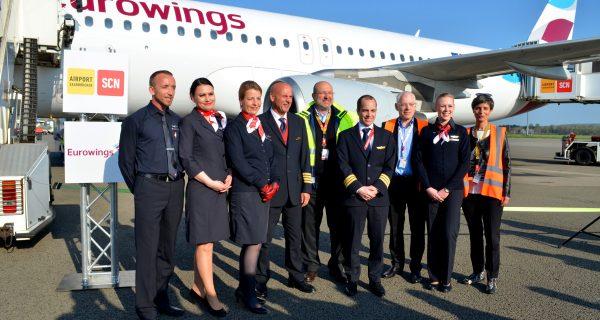 Lufthansa-Tochter Eurowings nimmt Flugverkehr in Saarbrücken auf