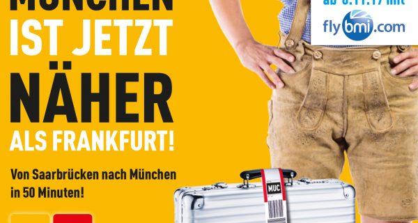 In weniger als einer Stunde nach München